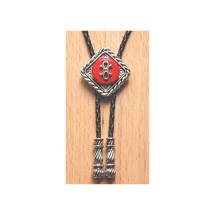 Bolo Tie Losange Rouge Noeud Country Western