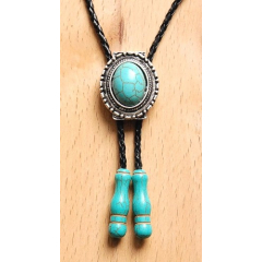 Bolo Tie Ovale Turquoise...