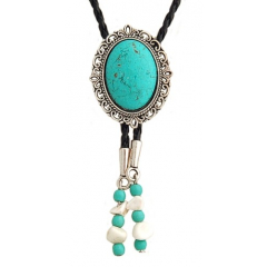 Bolo Tie Cameo Turquoise...