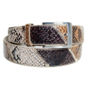Ceinture Country Serpent Marron / Beige
