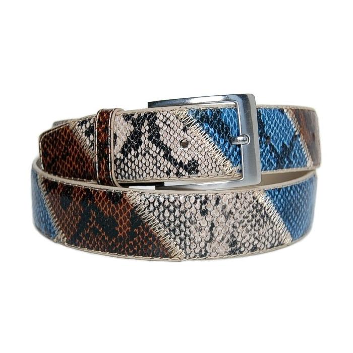 Ceinture Country Serpent Bleu   Marron faec94f2dd4