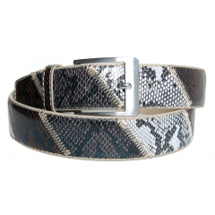 Ceinture Country Serpent Marron / Gris