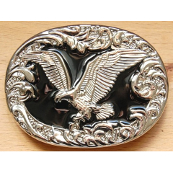 Boucle de Ceinture Aigle Noir Country Western