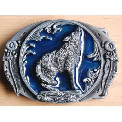 Boucle de Ceinture Loup Bleu Country Western