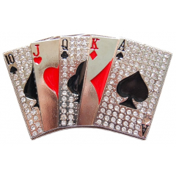 Boucle de Ceinture Carte Poker Country Western