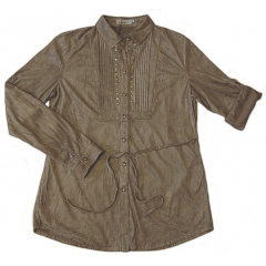 Chemise Aspect Daim - Coupe Confort - Chocolat - Country Western