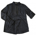 Chemise Aspect Daim - Coupe Confort - Bleu Nuit - Country Western