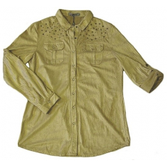 Chemise Aspect Daim - Coupe Classique - Beige - Country Western