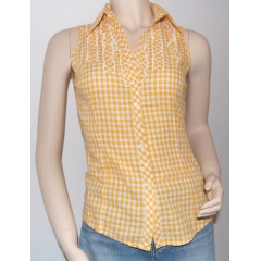 Chemisier Femme Sans Manches Country Western Jaune