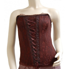 Bustier Pettycoat Country Western Marron