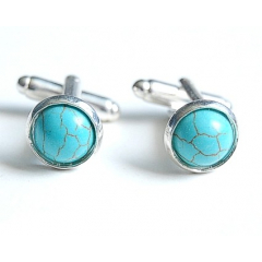 Boutons de manchette Turquoise Howlite Country Western