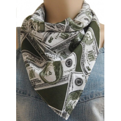 Bandana Dollar Vert Country Western