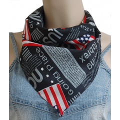 Bandana USA Noir Country Western