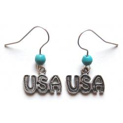 Boucles d'oreilles USA...