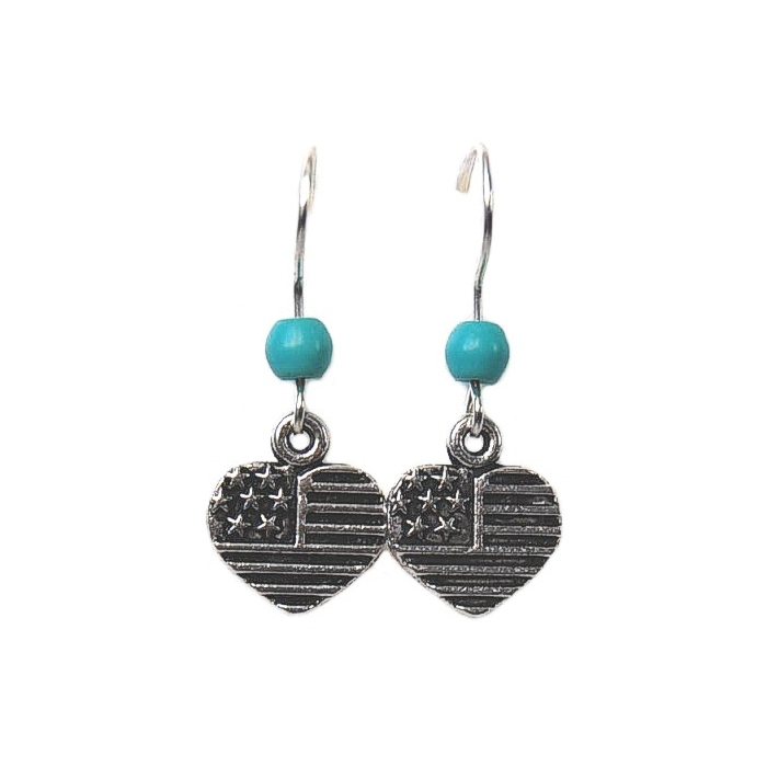 Boucles d'oreilles Coeur Turquoise Country Western