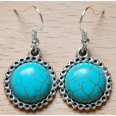 Boucles d'oreilles Soleil Turquoise Country Western