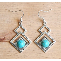 Boucles d'oreilles Triangle Country Western