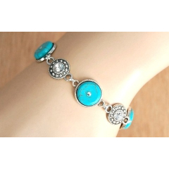 Bracelet Turquoise et Strass Country Western