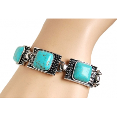 Bracelet Turquoise Carré Country Western