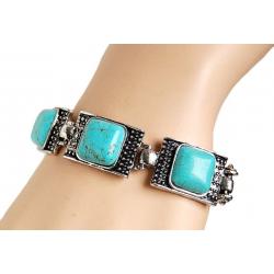 Bracelet Turquoise Carré...