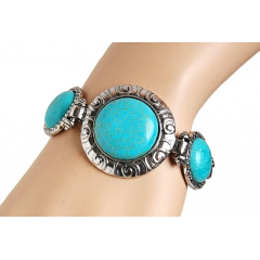 Bracelet Turquoise Rond Country Western