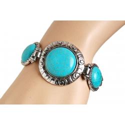 Bracelet Turquoise Rond...