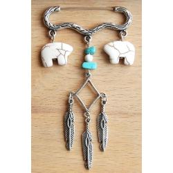 Bijoux de sac Zuni Turquoise Country Western