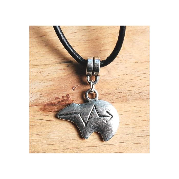 Pendentif Ours Zuni Métal Country Western