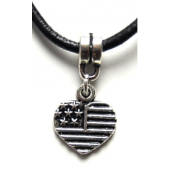 Pendentif Coeur USA Country Western