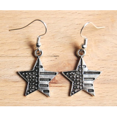 Boucles d'oreilles Etoile USA Country Western