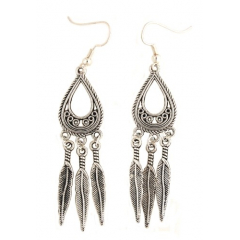 Boucles d'oreilles Trio Plumes Country Western