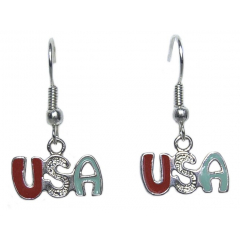 Boucles d'oreilles USA Couleur Country Western