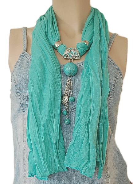 echarpe bijoux turquoise country western