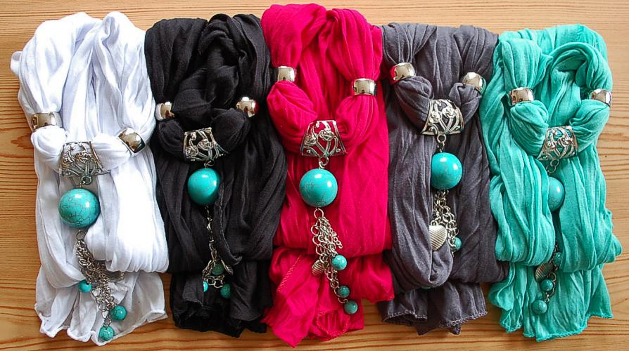 echarpe bijoux turquoise